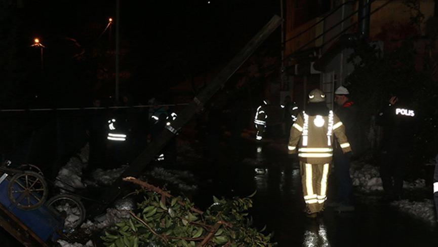 İstanbul'da korku dolu anlar! Sokak şeritle kapatıldı