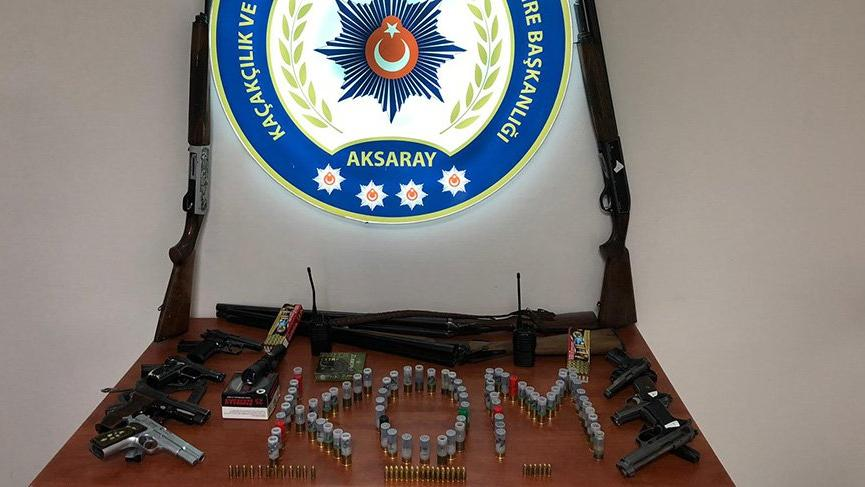 Aksaray'da silah kaçakçılığına 3 gözaltı