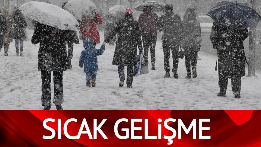 Kar rotasını değiştiriyor, uyarılar sürüyor! | Meteoroloji'nin hava durumu tahminleri