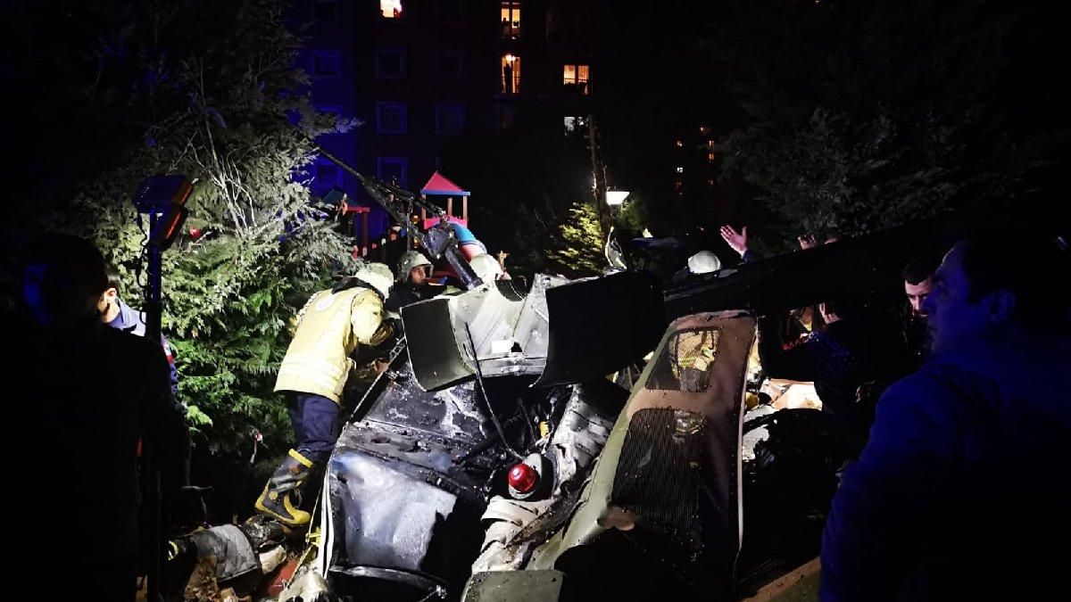 İstanbul'da helikopter düştü: Dört askerimiz şehit