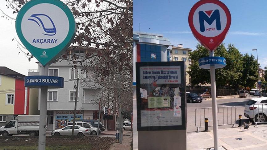 Var olmayan metrodan sonra var olmayan tramvaya tabela!