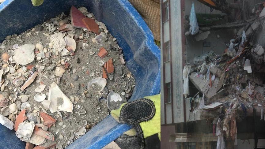 Çöken binanın kolonlarından alınan numuneler incelenecek