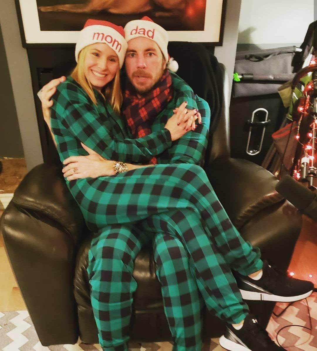 Kristen Bell ve yine kendisi gibi oyuncu olan eşi Dax Shepard