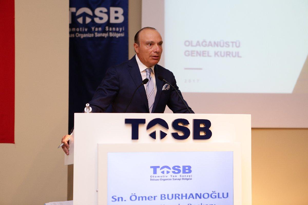 TOSB Yönetim Kurulu Başkanı Ömer Burhanoğlu