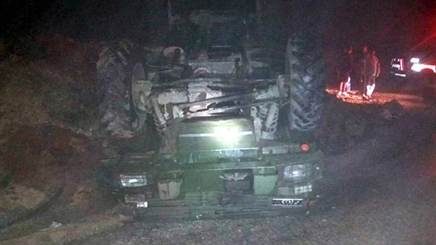 Hatay'ın Yayladağı ilçesinde askeri araç devrildi: 5 yaralı