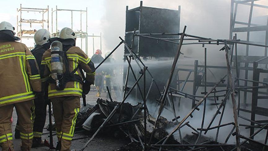 Bursa'da fabrikada korkutan yangın!