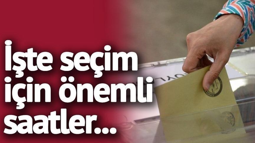 Seçim yasakları saat kaçta bitecek? Seçim sonuçları ne zaman belli olacak? Oy sayımı başlangıç saati...