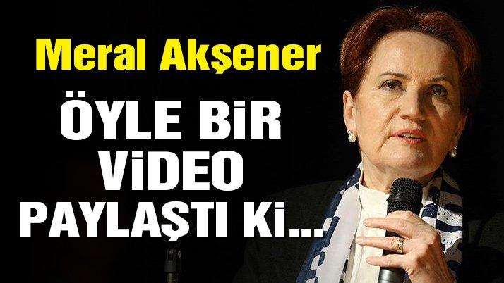 Akşener'den Cumhur İttifakı'nı kızdıracak paylaşım! | Son dakika haberleri