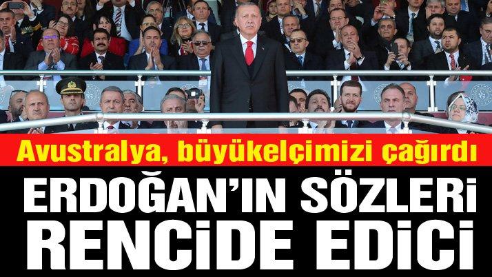 Avustralya Başbakanı'ndan Erdoğan'a tepki: Rencide edici