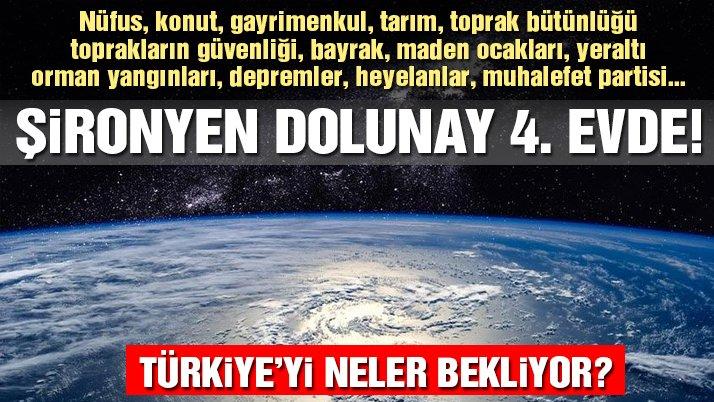 Terazi burcunda Şironyen Dolunay'ın Türkiye ve dünya üzerindeki etkisi