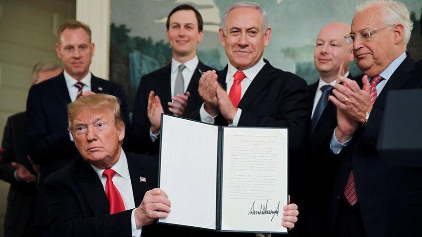 Son dakika: Trump İsrail'in Golan Tepeleri hakimiyetini tanıdı
