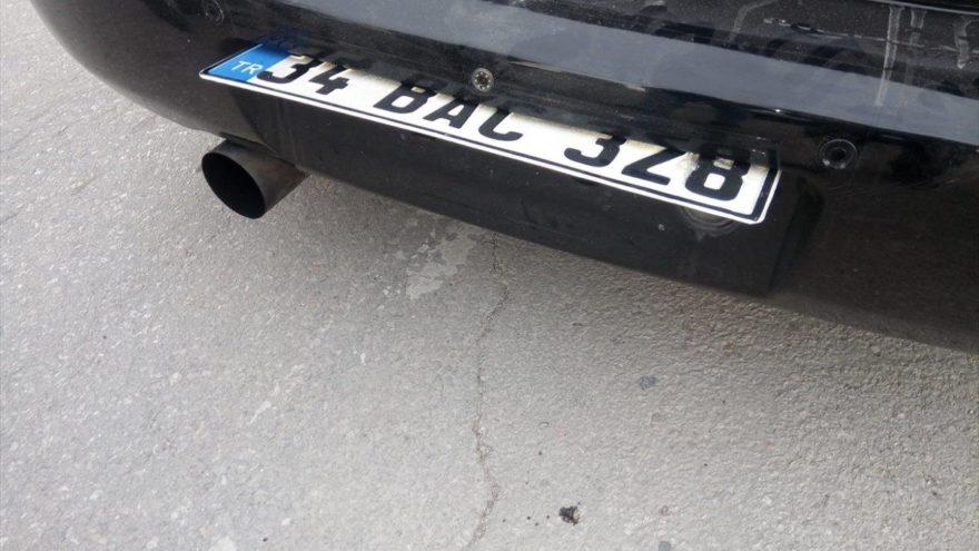 'Oynar plaka' takılı araç sahibine ceza