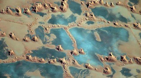 Uzaydan Afrika'nın görüntüsü