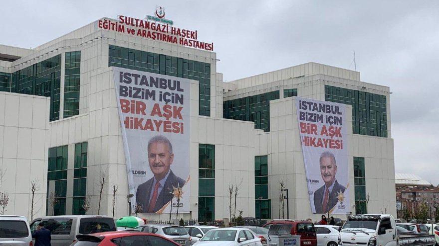 Devlet hastanesinde tepki çeken propaganda!