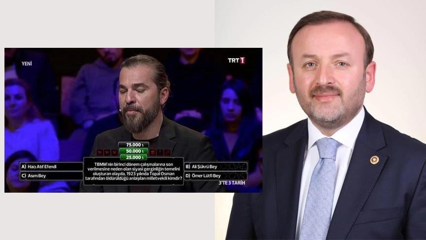 TRT'deki Topal Osman Ağa'yla ilgili soru skandalına AKP'li Sabri Öztürk de tepki gösterdi