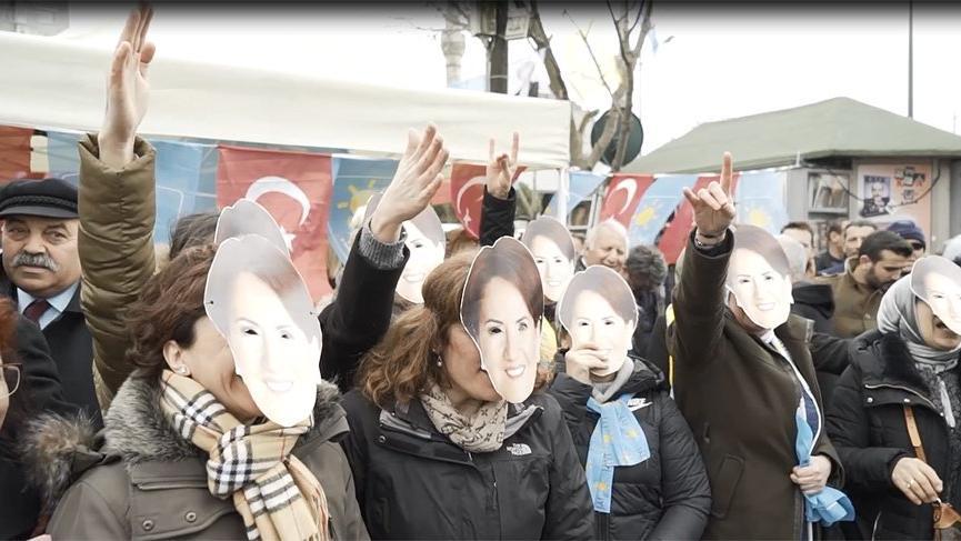 Üsküdar'da Akşener'e destek mitingi