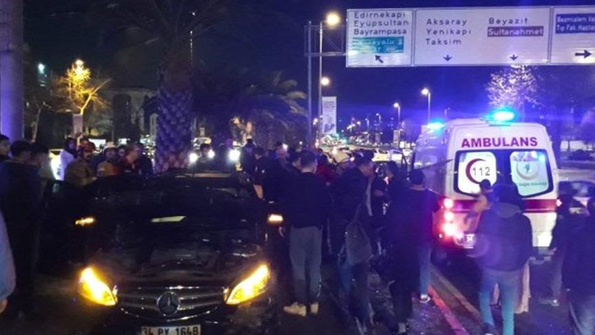 Fatih'te trafikte makas atarak kazaya neden olan sürücü yakalandı