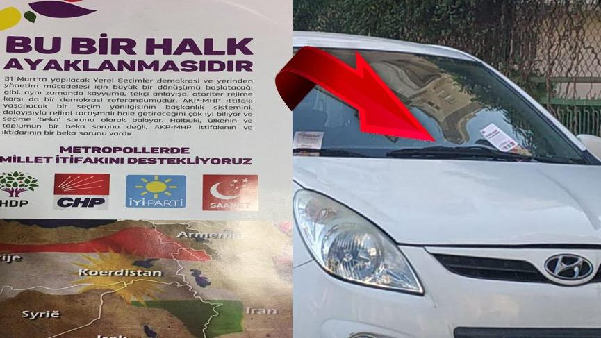 Antalya'da sahte propaganda: Sözde Kürdistan haritası