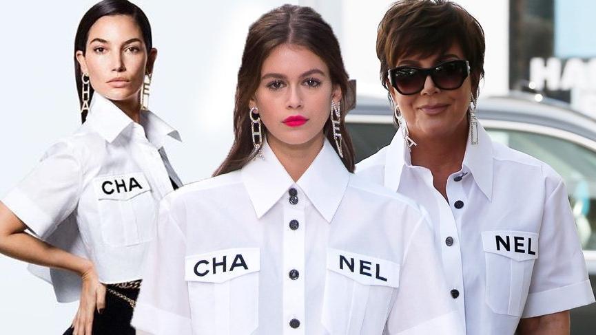 Chanel'in 2019 İlkbahar Yaz koleksiyonunda yer alan beyaz gömlek ünlü isimleri etkisi altına aldı
