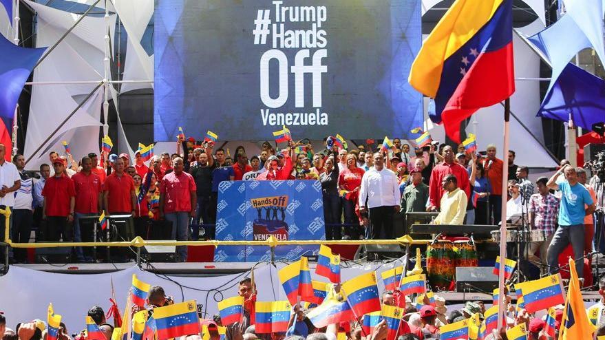 Venezuela'da hükümet taraftarları da 9 Mart'ta sokakta