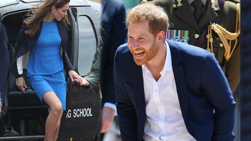 """Prens Harry Kate Middleton'a """"Senin o baştan çıkaran bacakların"""" diyecekken engellenmiş"""