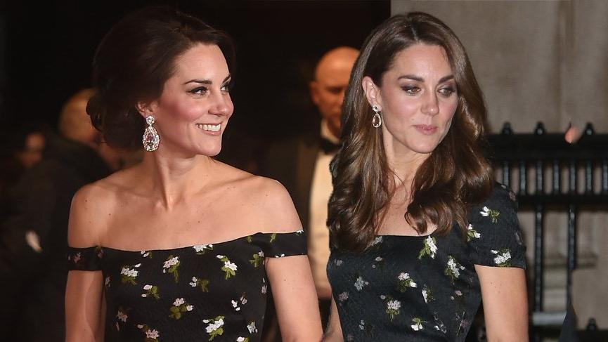 Kate Middleton'un dekolteli elbisesini revize ettirmesi dikkat çekti