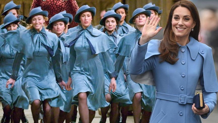 Kate Middleton giydiği kabanla Beauxbatons Sihir Akademisi kızlarına benzetildi