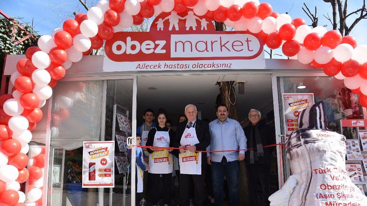 Türkiye'nin ilk 'Obez Marketi' açıldı