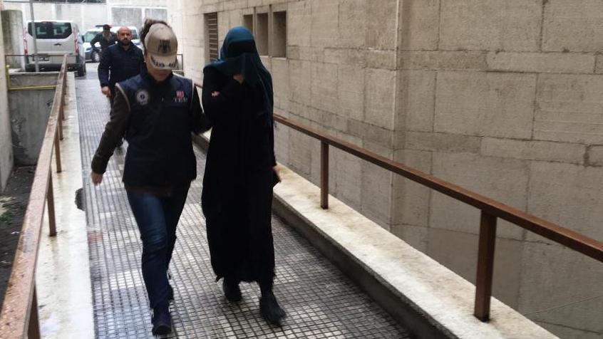 Bursa'da yakalanan IŞİD'lı kadın terörist İnterpol'e teslim edildi