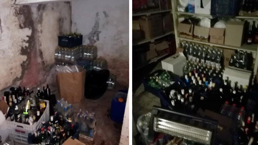Marmaris'te otelde 900 şişe sahte içki ele geçirildi, 1 kişi gözaltıda