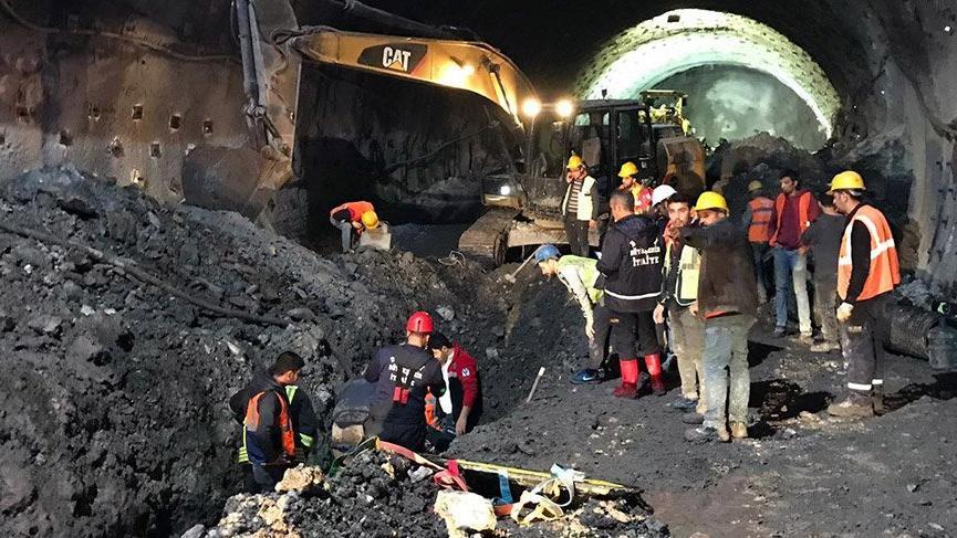 Tünel inşaatında göçük! Bir işçi hayatını kaybetti