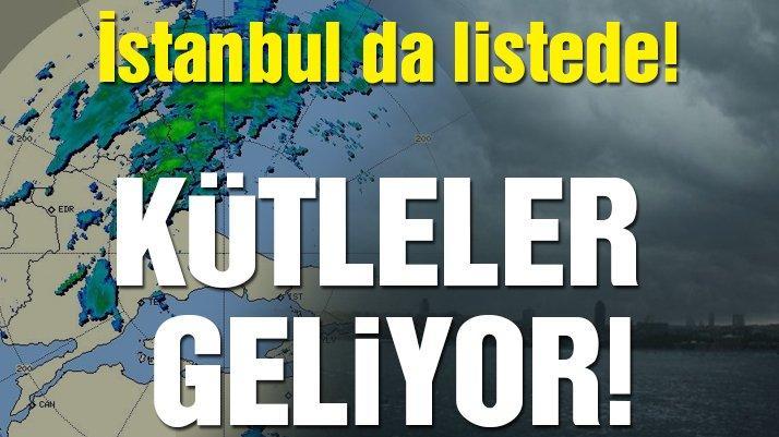 İstanbul'a son dakika uyarısı! Sağanak Marmara ve Ege'yi vuracak… | Meteoroloji'den hava durumu tahminleri