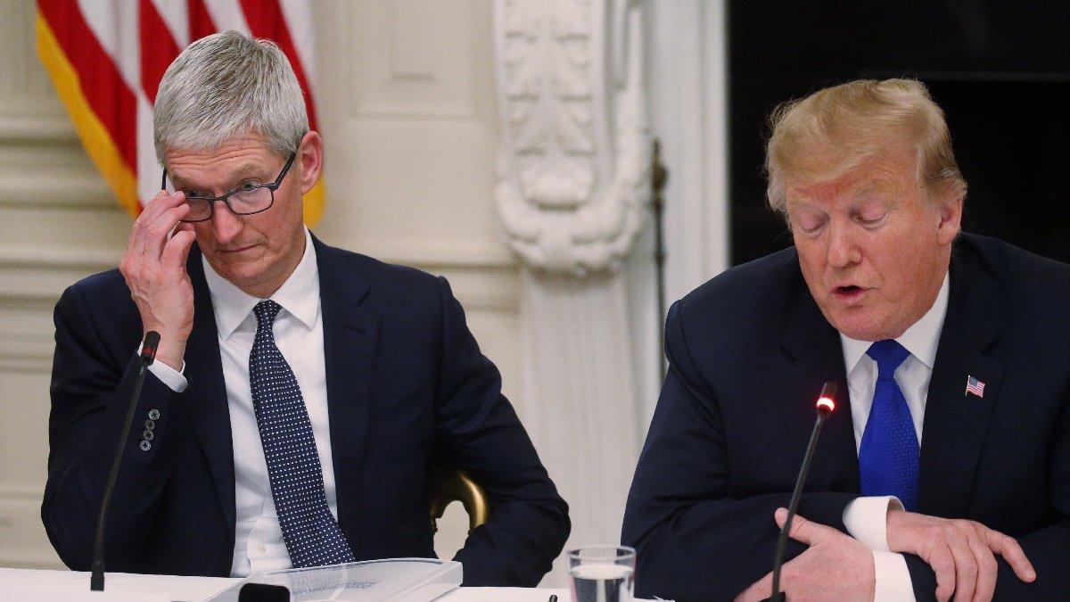 Trump'ı durdurabilene aşk olsun! Son kurbanı Apple'ın CEO'su oldu