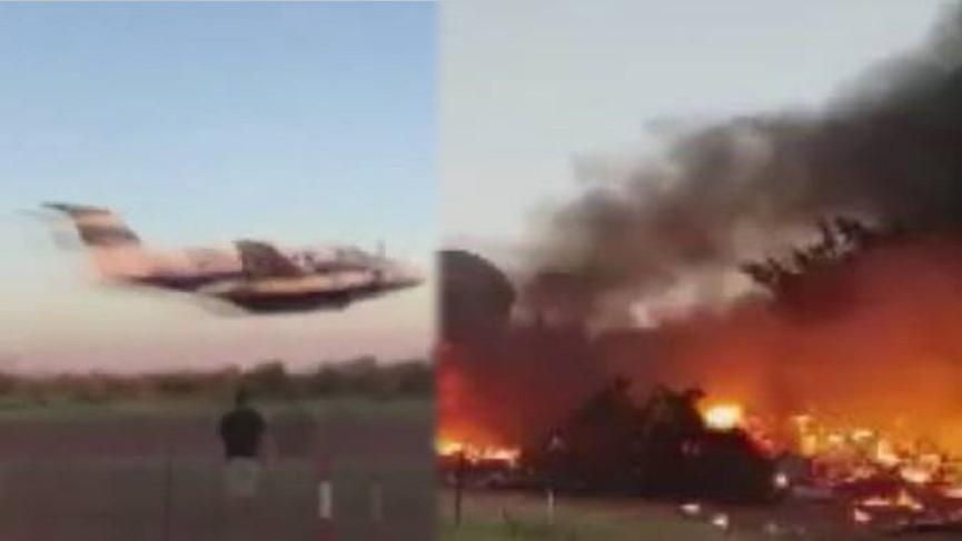 Eşine öfkelendi, uçağıyla binaya çarptı ile ilgili görsel sonucu