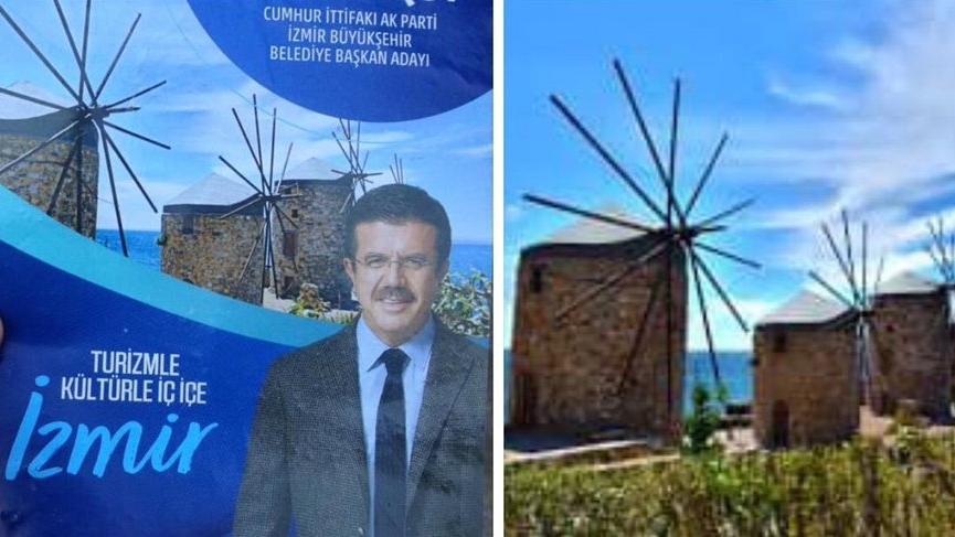 AKP'li Zeybekci'nin broşüründen Yunan adası çıktı!