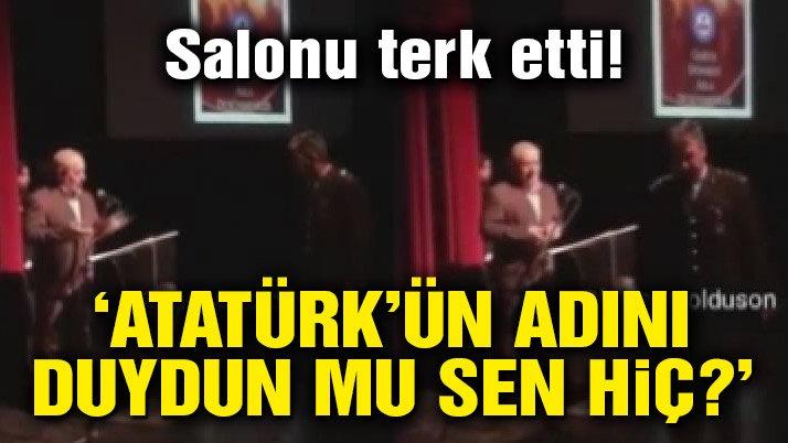 Atatürk'ün adı anılmayınca albay, salonu terk etti! | Son dakika haberleri
