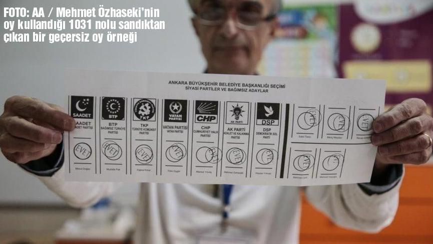 Oyları AKP'li üyeler de geçersiz saydı