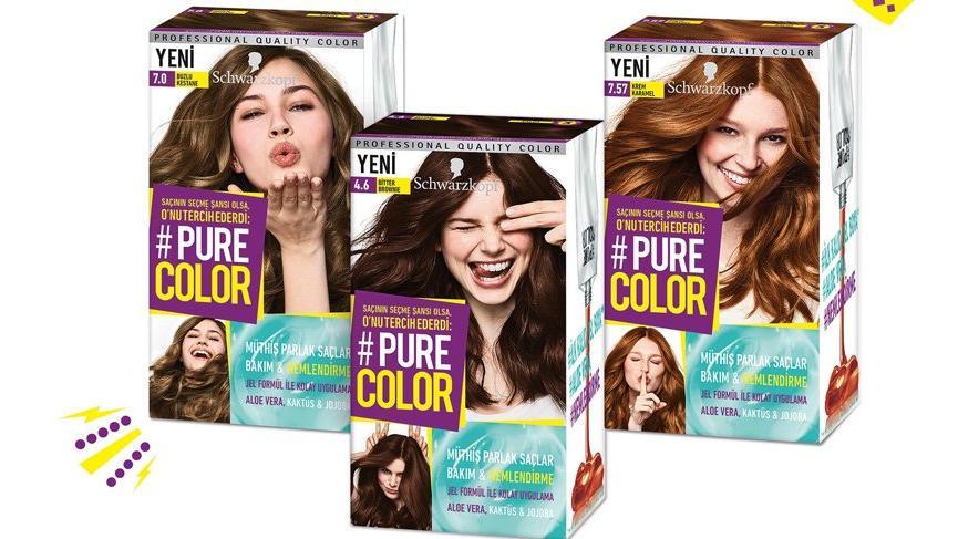 Schwarzkopf'tan ilk kalıcı jel saç boyası; Pure Color