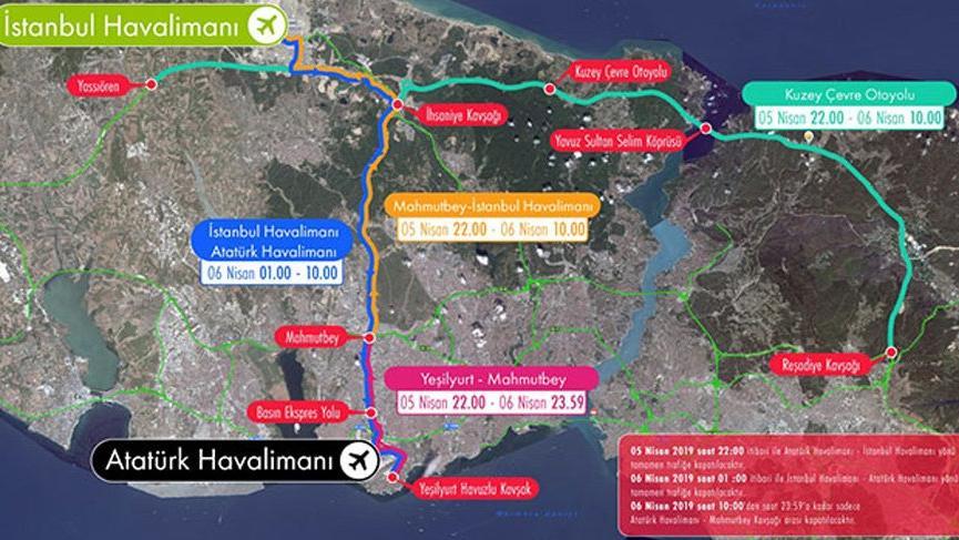İstanbul'da bu yollar trafiğe kapatılacak! İşte alternatif güzergahlar…