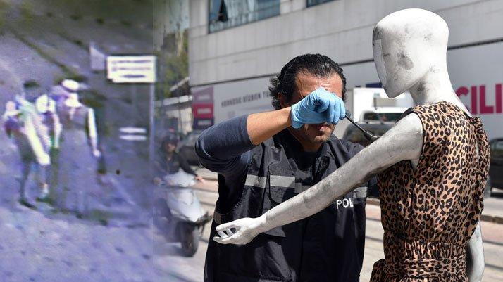 Antalya'da, sokak ortasında cansız mankene 'taciz'
