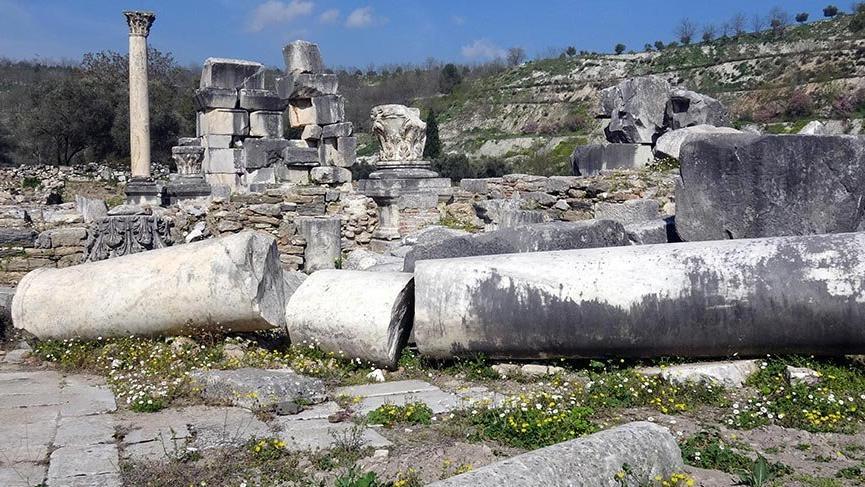 Roma İmparatoru'nun sütunları ayağa kaldırılcak