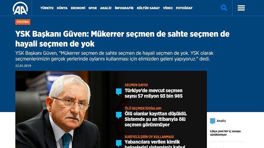 YSK, 22 Ocak'ta 'Hayali seçmen yok' demişti
