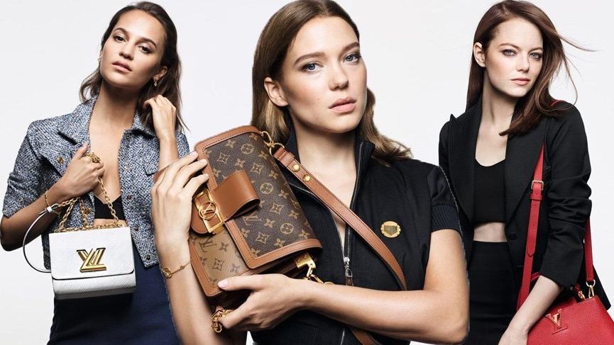 Louis Vuitton'un marka elçileri Emma Stone, Alicia Vikander ve Lea Seydoux oldu