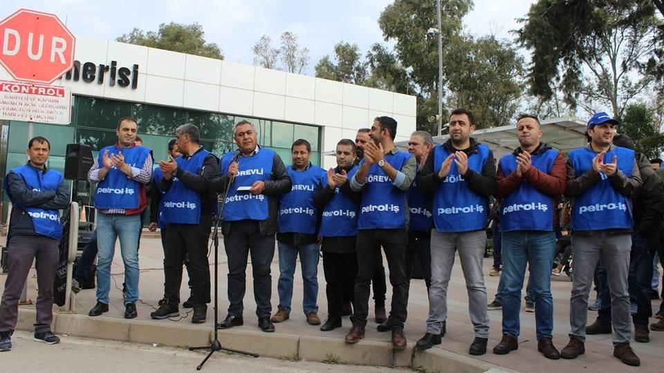 Sendika yüzde 50 zam istiyor… Tüpraş'ta işçiler eylemde!