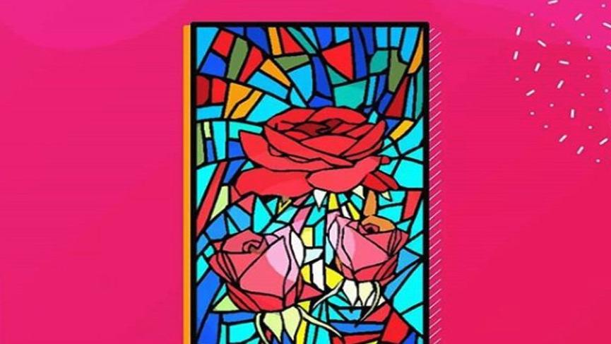 Farklı bölmelere yerleştirilmiş renkli cam parçalarından oluşan, saydam pencere süslemesine ne denir?