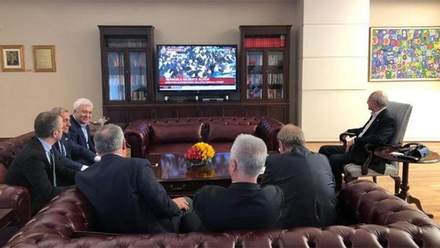 Kılıçdaroğlu, İmamoğlu'nu genel merkezde böyle izledi