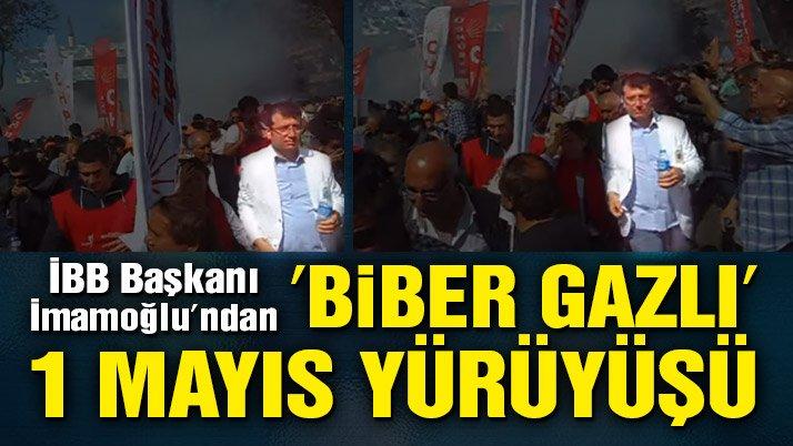 İBB Başkanı İmamoğlu'ndan 'biber gazlı' 1 Mayıs yürüyüşü