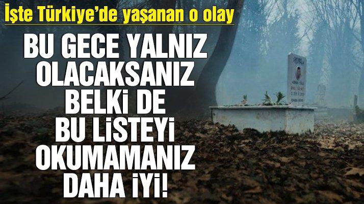 Türkiye'deki lanetli yerler