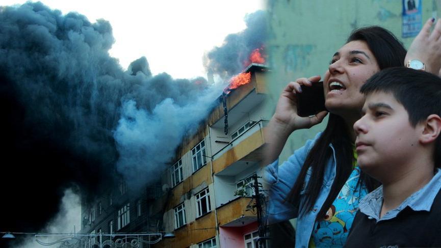 Son dakika... Beyoğlu'nda 4 katlı binada yangın!