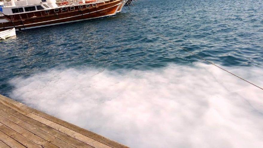 Muğla Bozburun'da deniz kirletiliyor